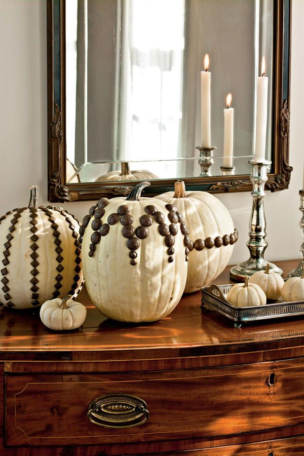 No-Carve Pumpkin Decorating Ideas: Tack Design