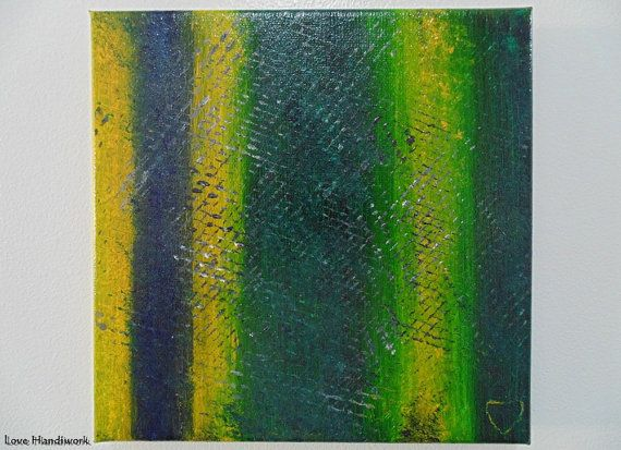 Green & Yellow with Black and White Abstract by LoveHandyWork