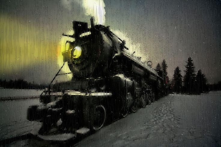 The Polar Express Leaving the Station on a Rainy, Foggy Night......