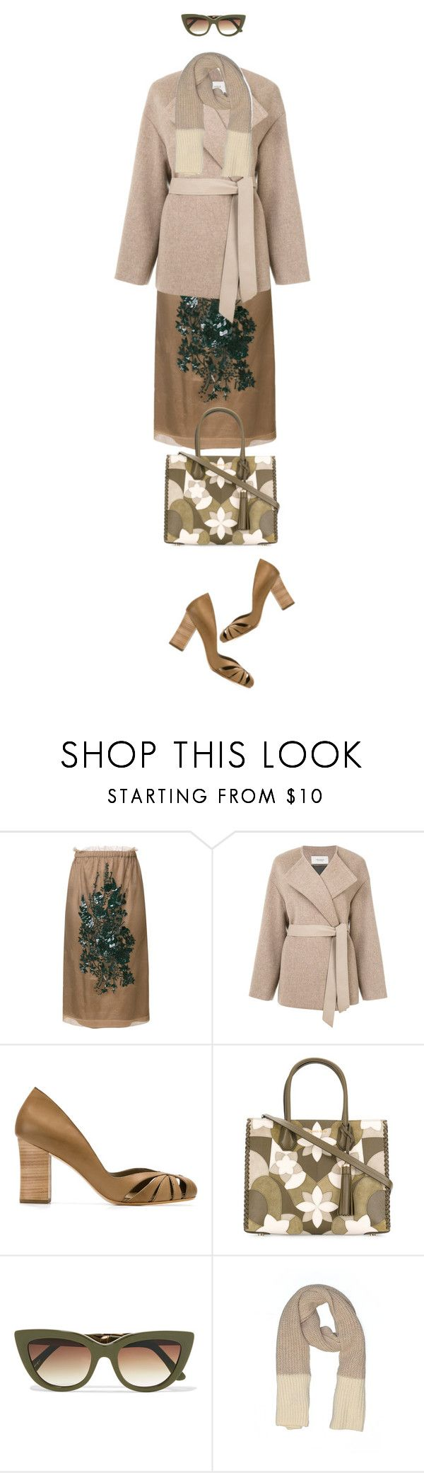 """Weekend"" by hani-bgd ❤ liked on Polyvore featuring N°21, Pringle of Scotland, Sarah Chofakian, MICHAEL Michael Kors, Sunday Somewhere and Gap"