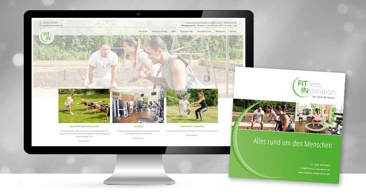 """Inspiration für die Fitness! Unser Kunde der Woche ist """"Fitness Inspiration"""". Das Osnabrücker Studio mit dem persönlichen Trainingsansatz hat von uns eine umfassende Ausstattung bekommen. Nicht nur das Logo strahlt nun frischer, auch die neue Webseite, Geschäftsausstattung, Flyer und neue Fotos stehen ihm in nichts nach. www.fitness-inspiration.de  #fitnessinspiration #trainingosnabrück #kundederwoche #comudex #werbeagentur #osnabrück #webseite #webdesign #logodesign #logogestaltung…"""