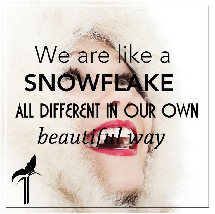 We are like a #snowflake all different in our own beautiful way