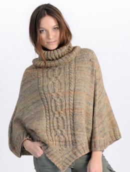 Ladies' Poncho with Cables pattern