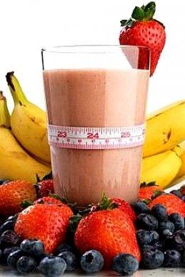 Banana & Orange Smoothie ~ 1 banana, 1 orange (peeled & seeded), ½ cup low fat yogurt, 1 cup orange juice, 6 ice cubes