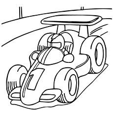 the race car coloring