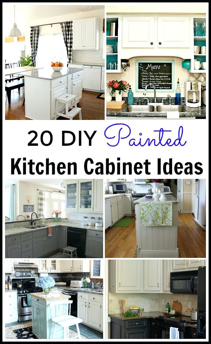 Painting Kitchen Cabinets Diy Lots Of Great Painted Cabinet Tutorials Everything Diy Kitchen Cabinets Painting Painting Kitchen Cabinets Diy Kitchen Renovation
