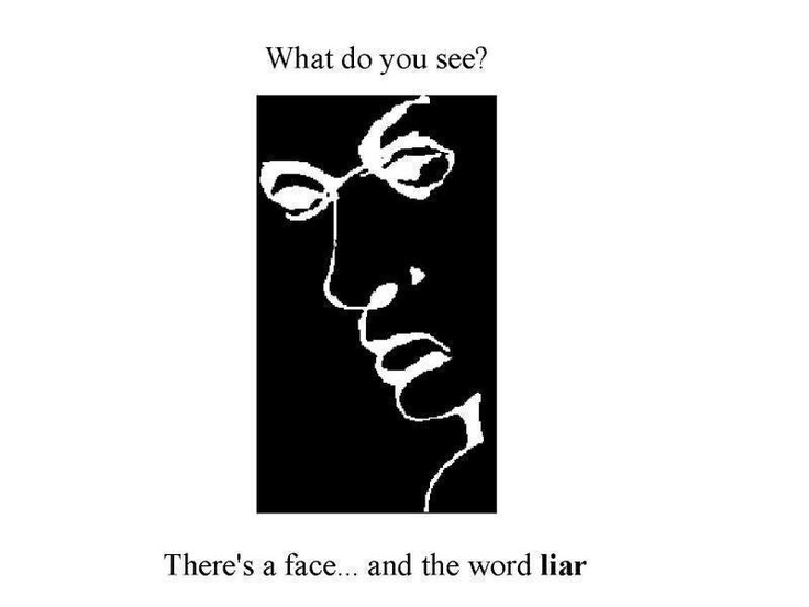 "face and the word ""liar"""
