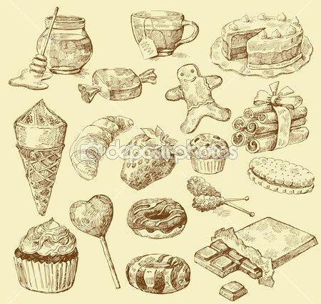 Édes gyűjtemény — Stock Illusztráció #10215016