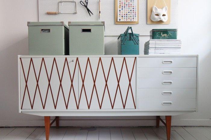 DIY Patterned Painted Furniture Tutorial