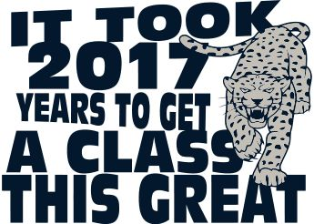 Class of 2017 custom t-shirts.  Senior t-shirts. T-Shirt Design - Beach Walk Slogan (clas-954i2)