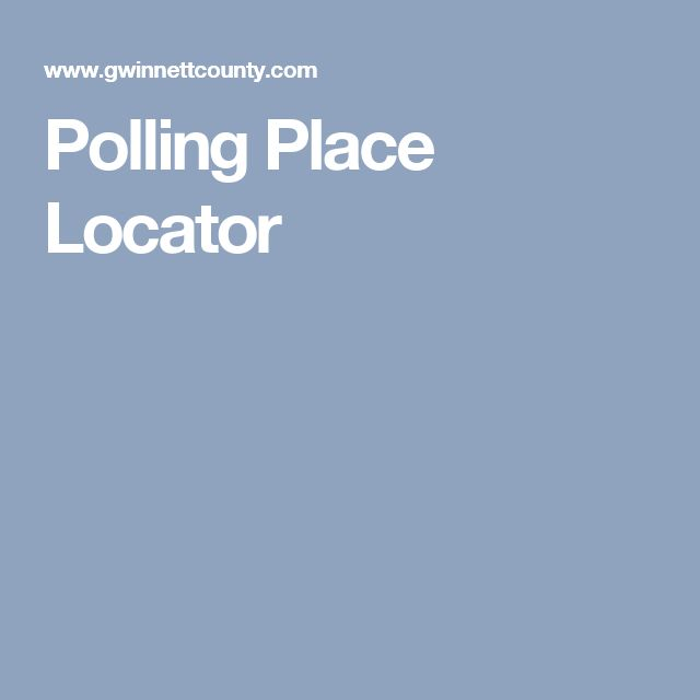 Polling Place Locator