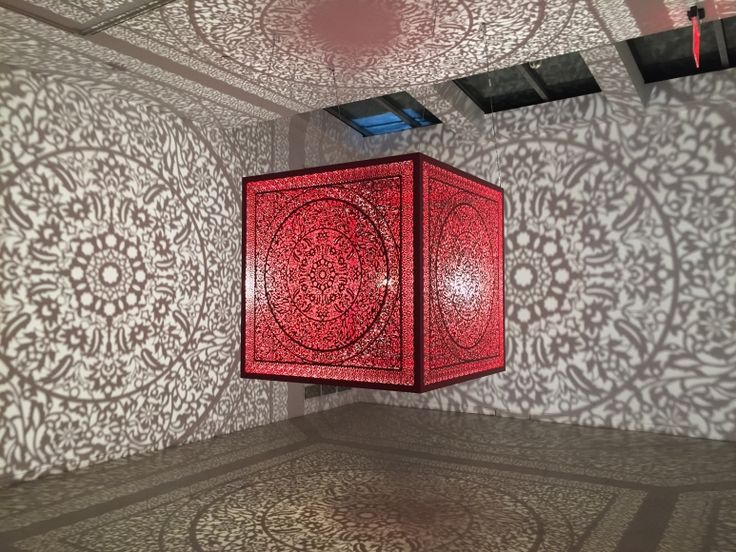 Anila Quayyum Agha All the Flowers Are for Me (Red - Ed. of 2)