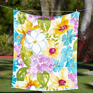 """I love big, wide beach towels. This one is 60"""" x 70"""" and so colorful!"""