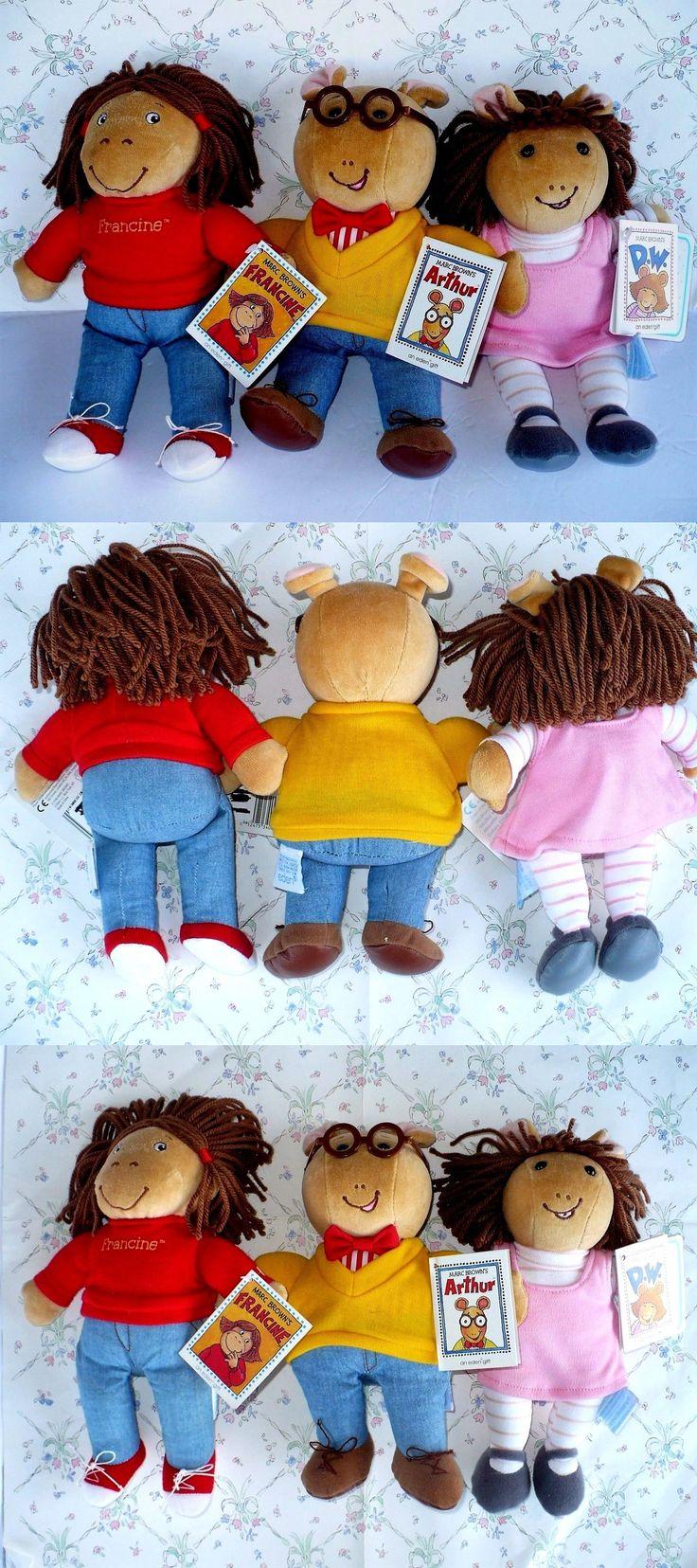 Arthur 20900: Eden 1998 Marc Brown S Arthur D.W. Francine 10 Plush Dolls Pbs Kids Nwt -> BUY IT NOW ONLY: $31.99 on eBay!