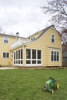 Cape Cod Addition exterior - traditional - exterior - kansas city - by ROTHERS Design/Build ...but doubled plus some movement back off original house