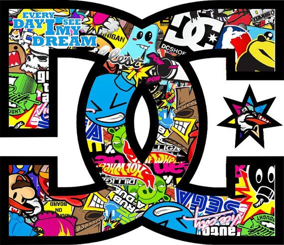 Sticker JDM USDM german style stickerbomb DC Shoes
