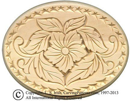 L S Irish Chip Carved Oval