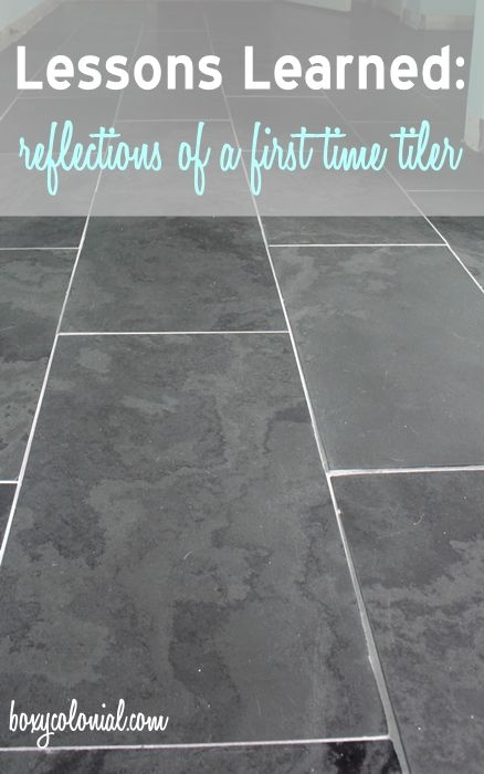 master bath slate tile reveal and tips for first time DIY tilers