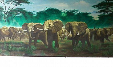 Art painting' Gajah Afrika'