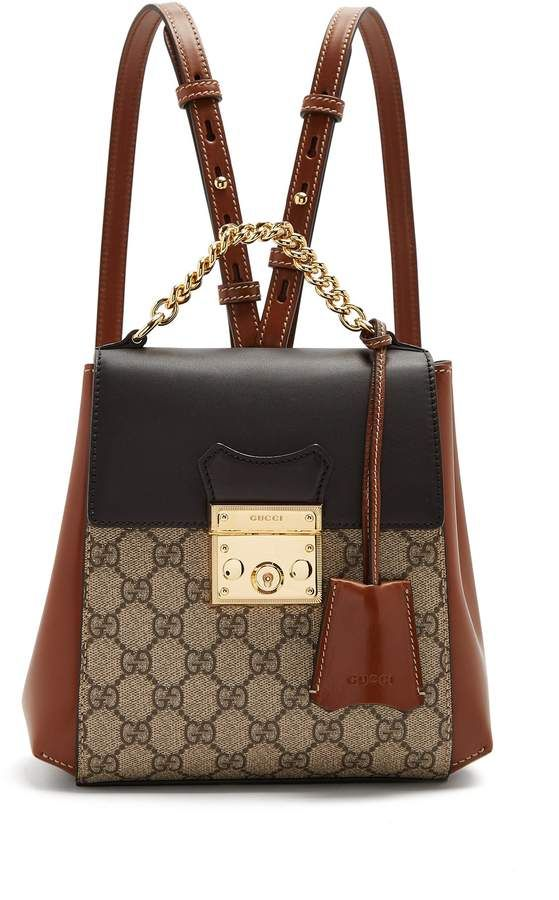 caa8cb6858 Gucci GG Supreme leather backpack | Bag in 2018 | Pinterest | Bags ...