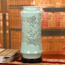 Dinastía Qing Antiguo hogar decorar Jarrón de Porcelana Azul y Blanco jarrones de porcelana de Jingdezhen De Cerámica florero de la vendimia(China (Mainland))