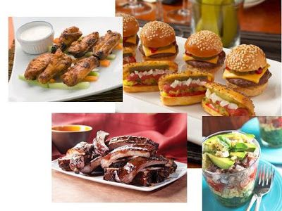 BaByQ Shower on the Wednesday Wishlist - mini hotdogs, baby back ribs, junior burgers, little chicken wings and small salad cups. Everything tiny for the babyq!