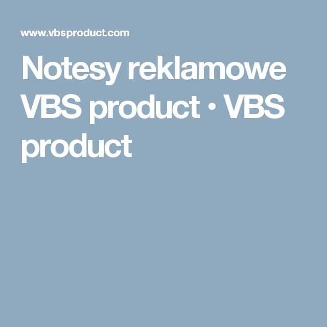 Notesy reklamowe VBS product • VBS product
