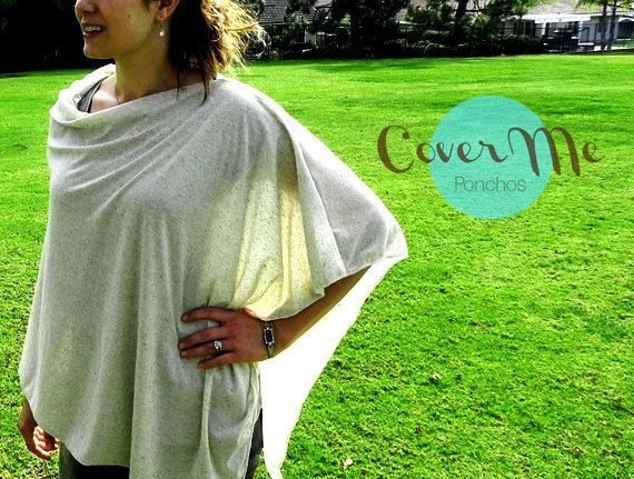 SALE Nursing Cover Poncho  Oatmeal Nursing Cover by CoverMePonchos, $20.00