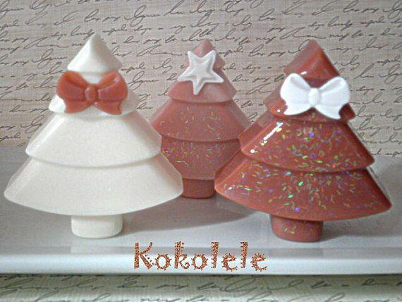 Christmas Tree Set of 2 Soaps by Kokolele on Etsy, $8.00