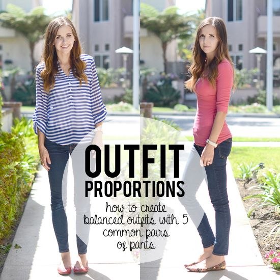 How to create balanced and proportional outfits with five common pairs of pants. This is really good.