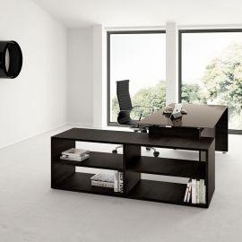 Gemini manažerský stůl v tmavém dřevě