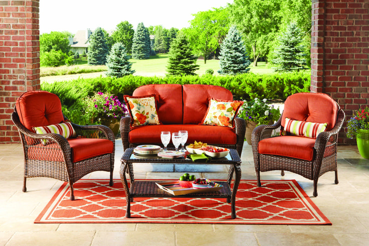 Better Homes And Gardens Azalea Ridge 4 Piece Patio Conversation Set Seats 4 Outdoor