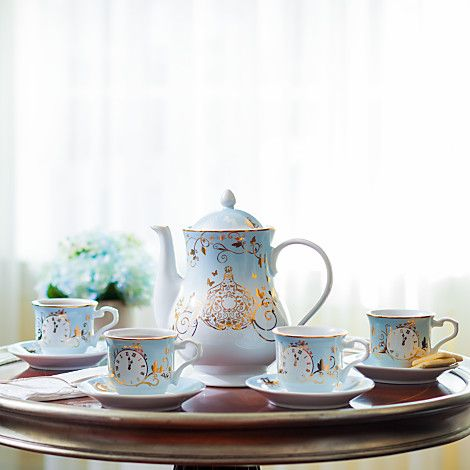 Cinderella Limited Edition Fine China Tea Set - Live Action Film...I probably actually really need this.