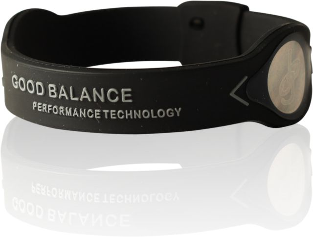 Energy bracelet Black / Silver. Energy bracelet of 100% silicone and a high charge of negative ions. www.goodbalance.se