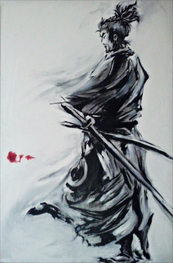 Musashi Miyamoto (copy) Oil painting // By Alex FaiChan [ http://de-saturation.blogspot.fr/2012/01/blog-post.html ]