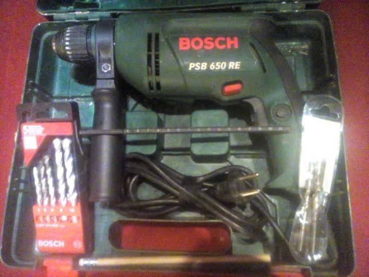 Perceuse à percussion Bosch Psb 650 Re + accessoires