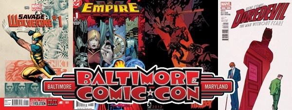 Baltimore Comic-Con 2013 Announces First Guests! - The Baltimore Comic-Con is happy to announce Frank Cho, Barry Kitson, Mike Mignola,Chris Samnee, and Mark Waid will all be guests for next year's show! (Click the image to read more...)