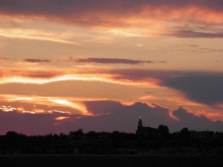 Sunset over Beaumont, Alberta, Canada.  We played the Beaumont Roots and Blues Festival Summer 2013