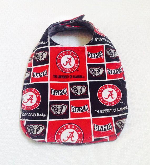 Alabama Crimson Tide Bib by DailySnuggle on Etsy