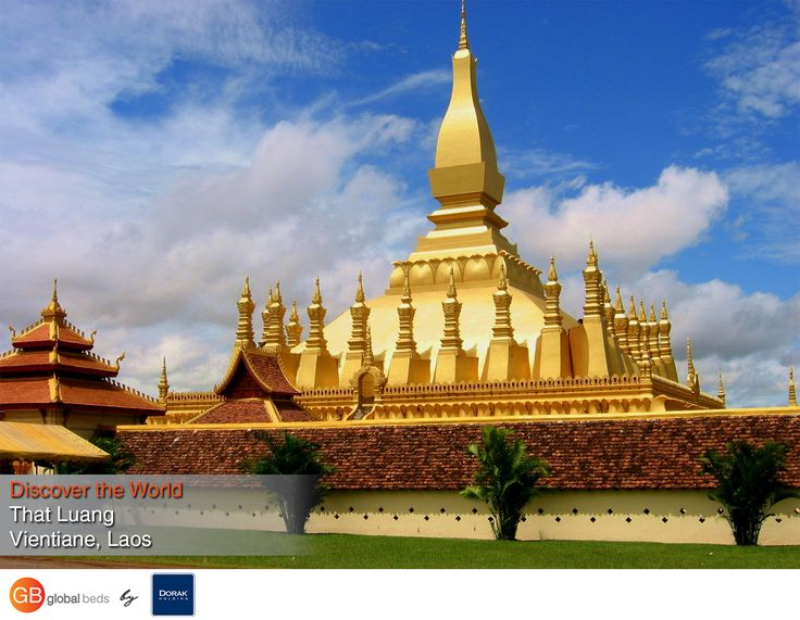 That Luang Shrine, which means great Sacred Stupa, is a golden dome believed to contain a relic of Lord Buddha. The Luang Festival occurs annually on the full moon of November and continues for seven days and nights with traditional performances.  #onlinebookingsystem #FIT #ThatLuang #Vientiane #Laos  #discovertheworld #instadaily #todayspost #view #viewoftheday #views #picoftheday #DorakHolding #GB #GlobalBeds