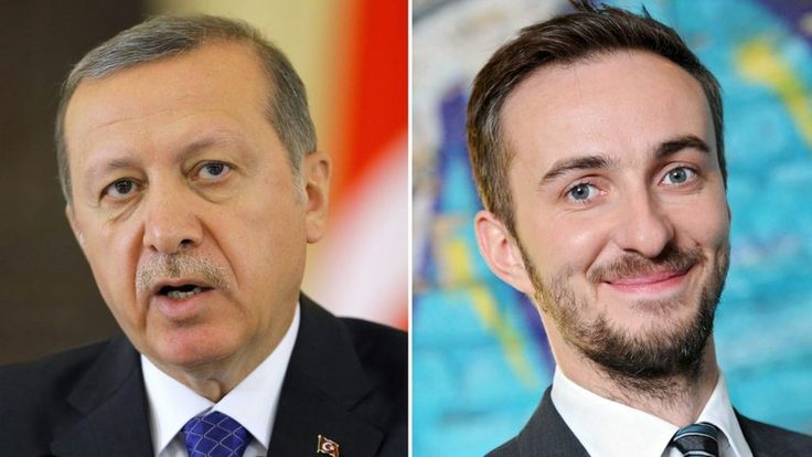 A German TV comic, Jan Boehmermann, is placed under police protection after he reads an obscene poem about Turkish President Recep Tayyip Erdogan.