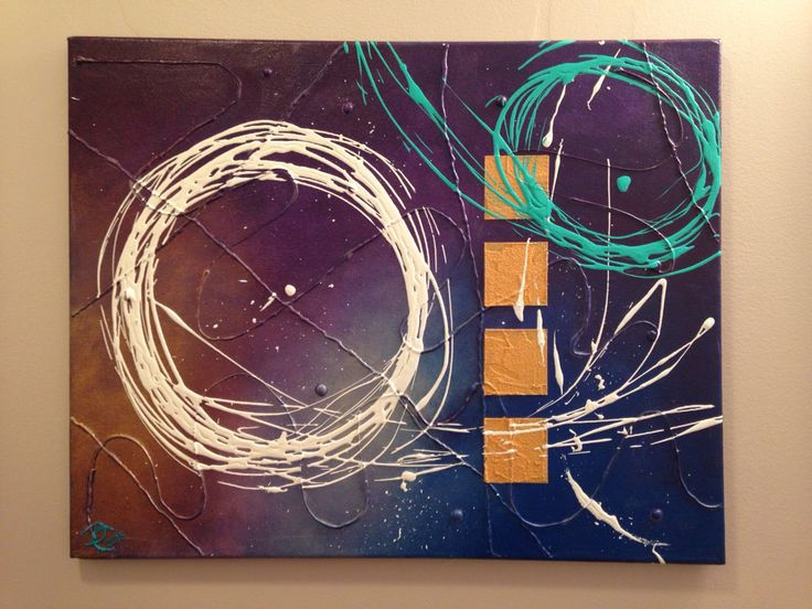 Spin around original acrylic abstract painting