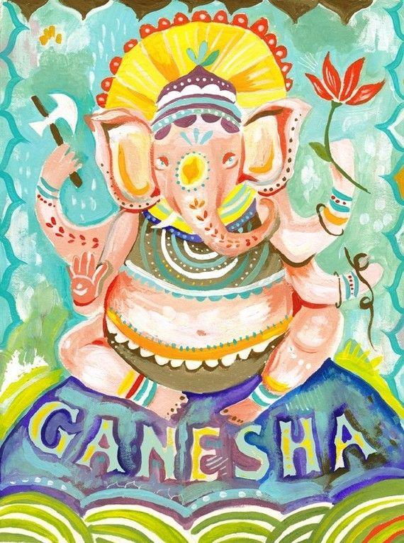 Ganesha - vertical print Más
