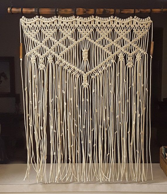 Hey, I found this really awesome Etsy listing at https://www.etsy.com/listing/400207887/large-macrame-wall-hanging-bamboo-window