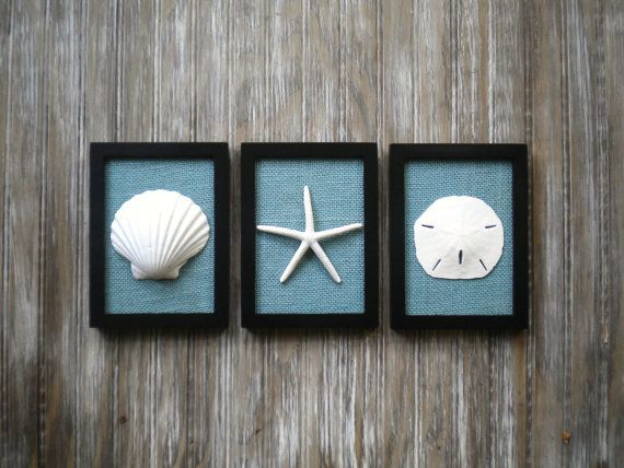 black and white bathroom wall art cottage chic set of wall sea shells home 25121