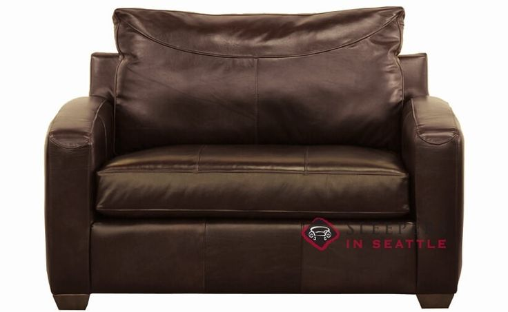 Savvy Boulder Leather Chair Sleeper Sofa in Durango Expresso at Sleepers In Seattle. $1,569.00