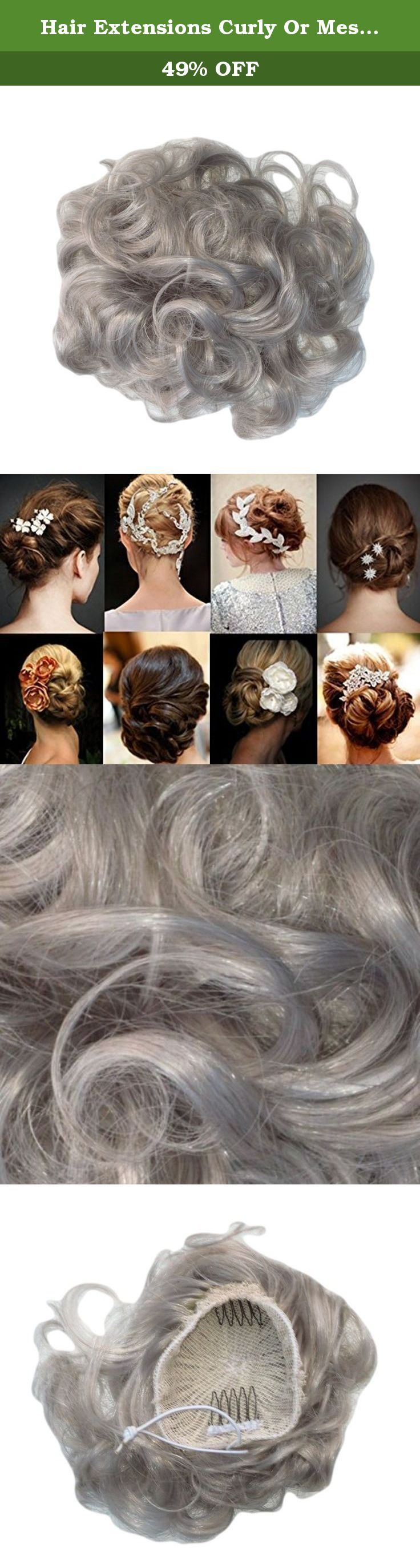 Hair Extensions Curly Or Messy Drawstring Updo Full Bun In Our Famous Silver Synthetic. Instant Girly Curly Style! A simple, little, luxurious, body creating, scrunchie. Twist on elastic so that you can vary the shape, anyone can manage the Bardot famous look. Never have a bad hair day again. Try this Multi Use curly Twister! Twister is a fabulous product you can create an updo or large bun in seconds! Wear two for an even higher curly messy look. Wear as an up do twisted round a high…