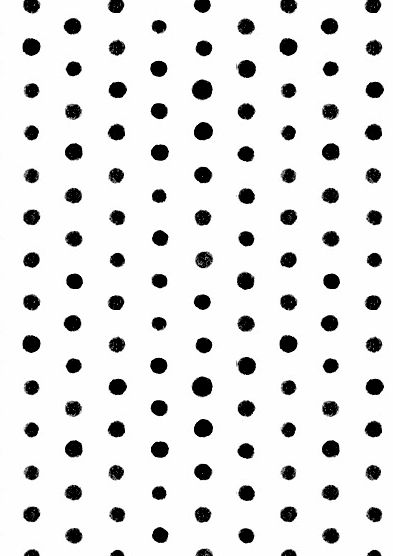 Painted Dots - black & white pattern; spotty print design