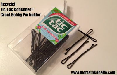 an empty Tic-Tac box, rinse it out, and store all of your Bobby Pins ...