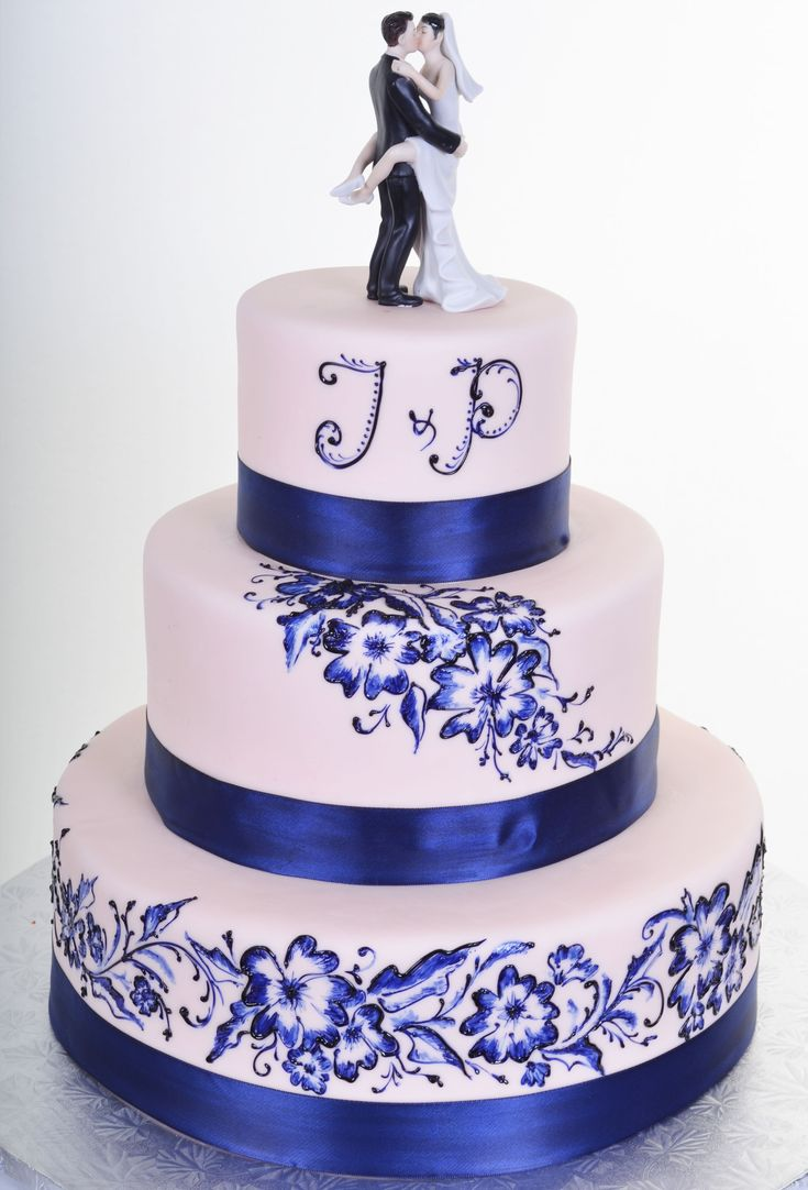 1000+ ideas about Blue Wedding Cakes on Pinterest ...